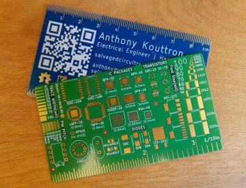 pcb circuit board business card